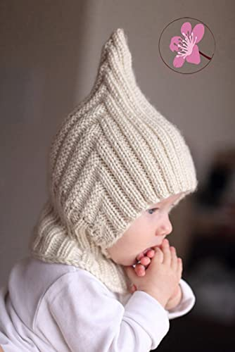3b20e4f13bc Image Unavailable. Image not available for. Color  cream knitted baby  balaclava hat