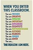 Classroom Sign When You Enter This Classroom Teachers Motivational Rules Light Poster 12x18
