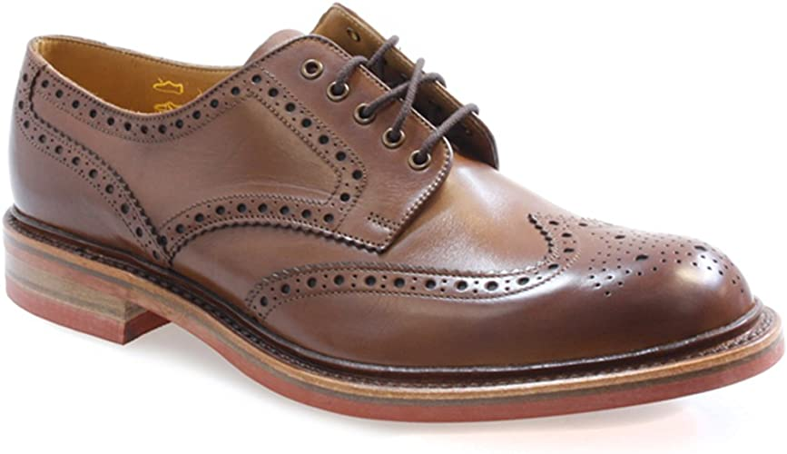 Loake Worton Brogue In Brown Leather 9