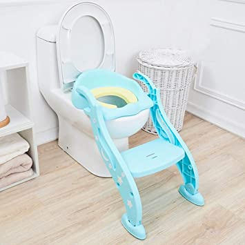 Marvelous Amazon Com Xwjc Childrens Potty Toilet Boy Girl Stair Pabps2019 Chair Design Images Pabps2019Com