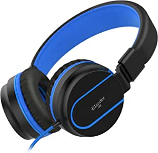 Elecder i36 Kids Headphones Children Girls Boys Teens Foldable Adjustable On Ear Headphones 3.5mm Jack Compatible iPad Cellphones Computer Kindle MP3/4 Airplane School Tablet