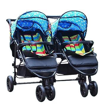 MRXUE Gemelo bebé de Tres Ruedas Carro portátil Plegable fácil reclinable Desmontable Trolley Jogger Adecuado para 0-3 años de Edad,#2: Amazon.es: Deportes ...