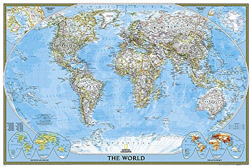National Geographic: World Classic Wall Map - Laminated (36 x 24 inches) (National Geographic Reference Map)