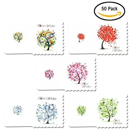 Amazon esoffice greeting cards all occasion card seasons esoffice greeting cards all occasion card seasons tree message cards foldable best wishes m4hsunfo
