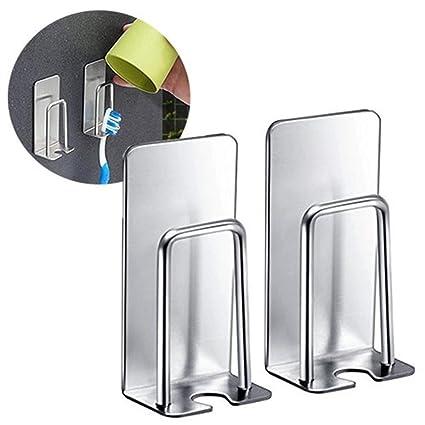 Vaso para cepillos de dientes pasta de dientes soporte colgador de pared soporte para estante de