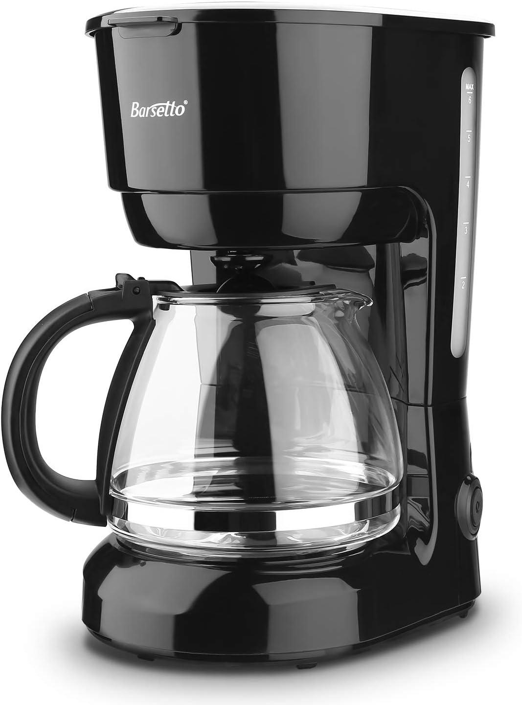 Cafetera de goteo Barsetto con 6 tazas de plástico Silent Drip con cafetera y filtro para Home Office: Amazon.es: Hogar
