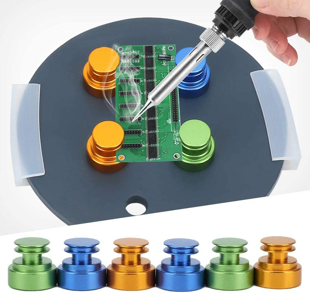 6pcs Circuit Board Maintenance Magnetic Printed Circuit Board Holder Fix Plate for Soldering Iron 4pcs // 6pcs holder