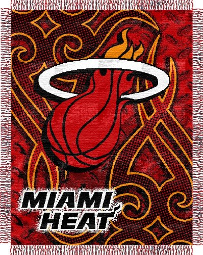 NBA Triple Woven Jacquard Throw NBA Team: Miami Heat Bulldogs Triple Woven Throw