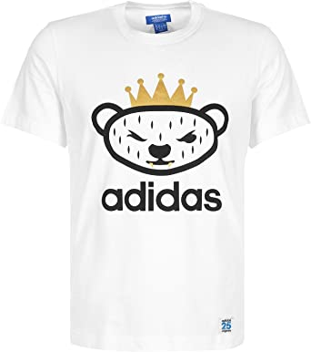 c65d49fe720 adidas Originals Nigo Bear T-Shirt - White - M: Amazon.co.uk: Sports ...