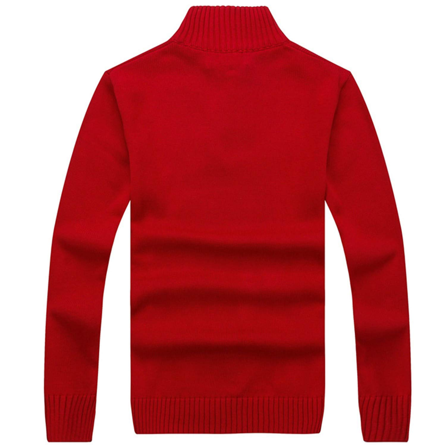 Susie Zechariah New Winter Thick Sweater Male Clothing Fashion Men Zipper Pullover Solid Knitted Jumper