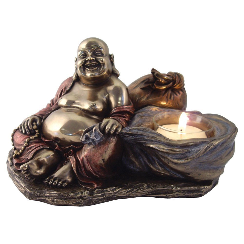 Happy Buddha Tea Light Candle Holder by tl