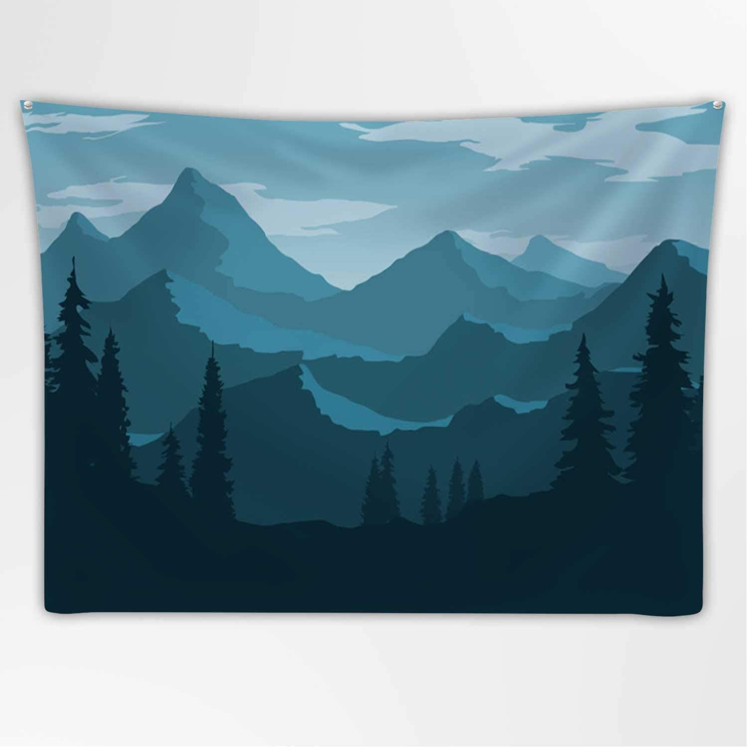 Amazon Com Hitecera Vector Wallpaper With A Landscape Tapestry A