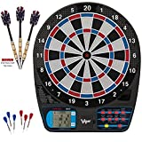LCD Display Viper 787 Electronic Tournament Dartboard Professional + Bonus Elite Brass Alloy Barrels Soft Tip Darts, 18g