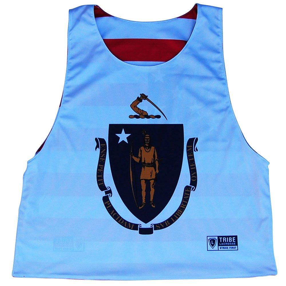 Massachusetts State Flag Native American Reversible Lacrosse Pinnie