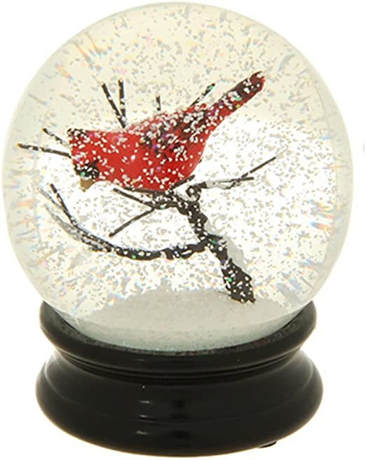 buy sale website for discount entire collection Winter Snow Globe by RAZ Imports: 4.5 Inch Cardinal Snow Globe (Cardinal  Branch)