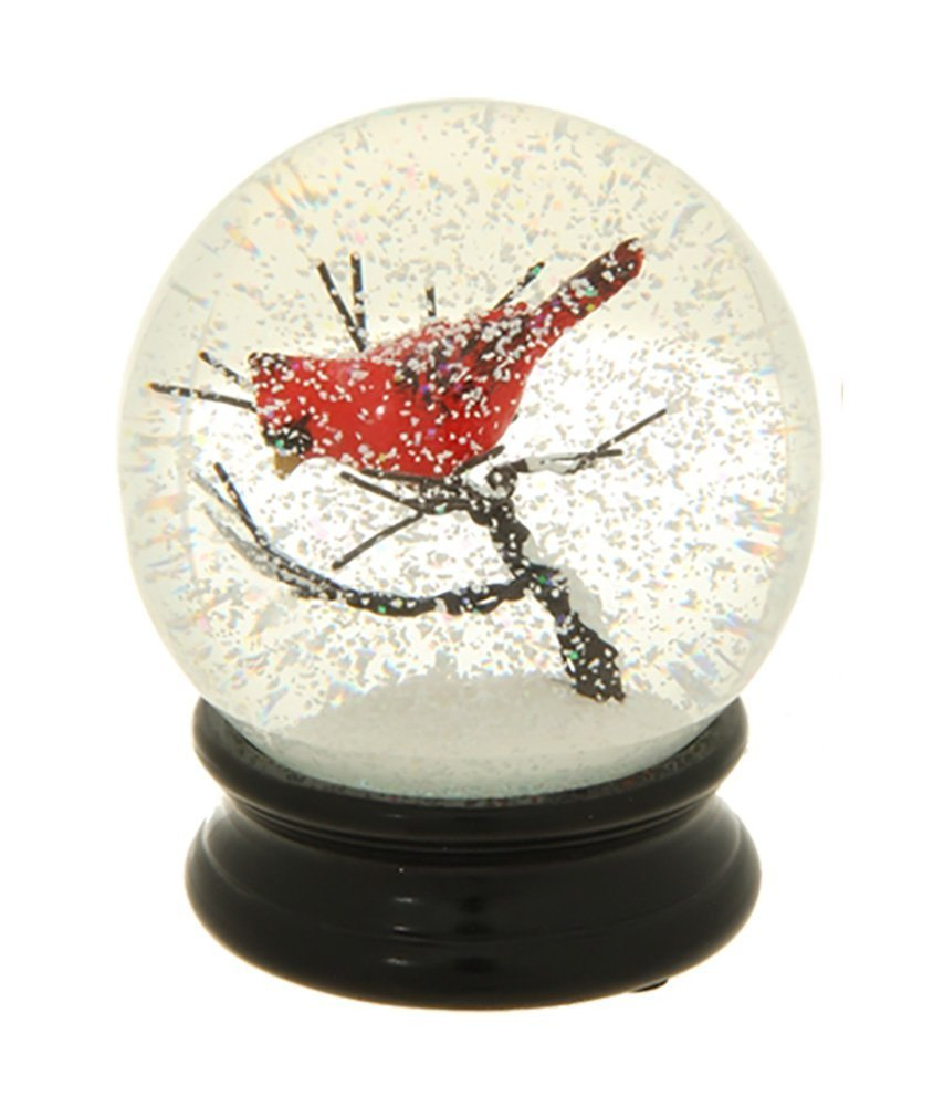 4.5 Inch Cardinal on a Branch Water Globe