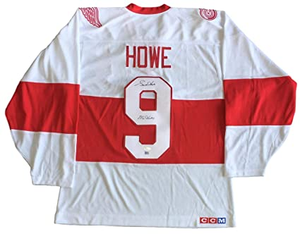 innovative design a2277 d90e1 Gordie Howe Signed Detroit Red Wings White CCM Jersey Mr ...