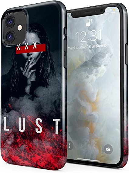XXX Lust Smoking Sexy Model Girl Swag Dope Hard Thin Plastic Phone Case Cover for iPhone 11