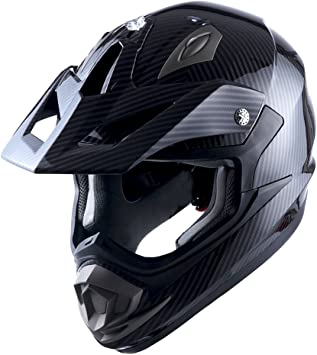 Amazon Com Adult Motocross Helmet Off Road Mx Bmx Atv Dirt Bike Mechanic Carbon Fiber Black Automotive
