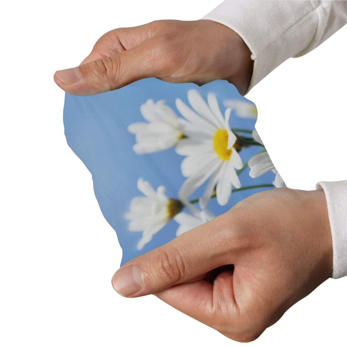 Arm Sleeves White Daisy Flowers Yellow Butterfly Mens Sun UV Protection Sleeves Arm Warmers Cool Long Set Covers