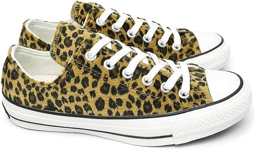 Converse] All Star 100 Leopard Fur Ox