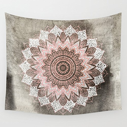Coral Wall (ZRCK Wall Hangings Tapestry Psychedelic Cool Indian Home Decor Hippie Bohochic Mandala in Coral Tapestries For Living Room 59X51 INCH)