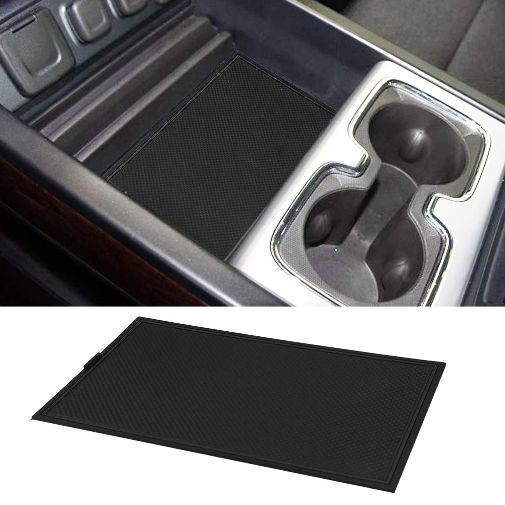 Secret Compartment Cover Center Console Organizer Tray for 2014-2018 GMC Sierra 1500 2500HD 3500HD Denali Chevy Silverado Hidden Accessories