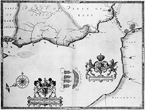 (Spanish Armada 1588 Nthe Spanish And English Fleets En Route To Calais France During The Attempted Spanish Invasion Of England 1588 Engraving By Augustine Ryther After Roberto Adamo Poster Print by ()