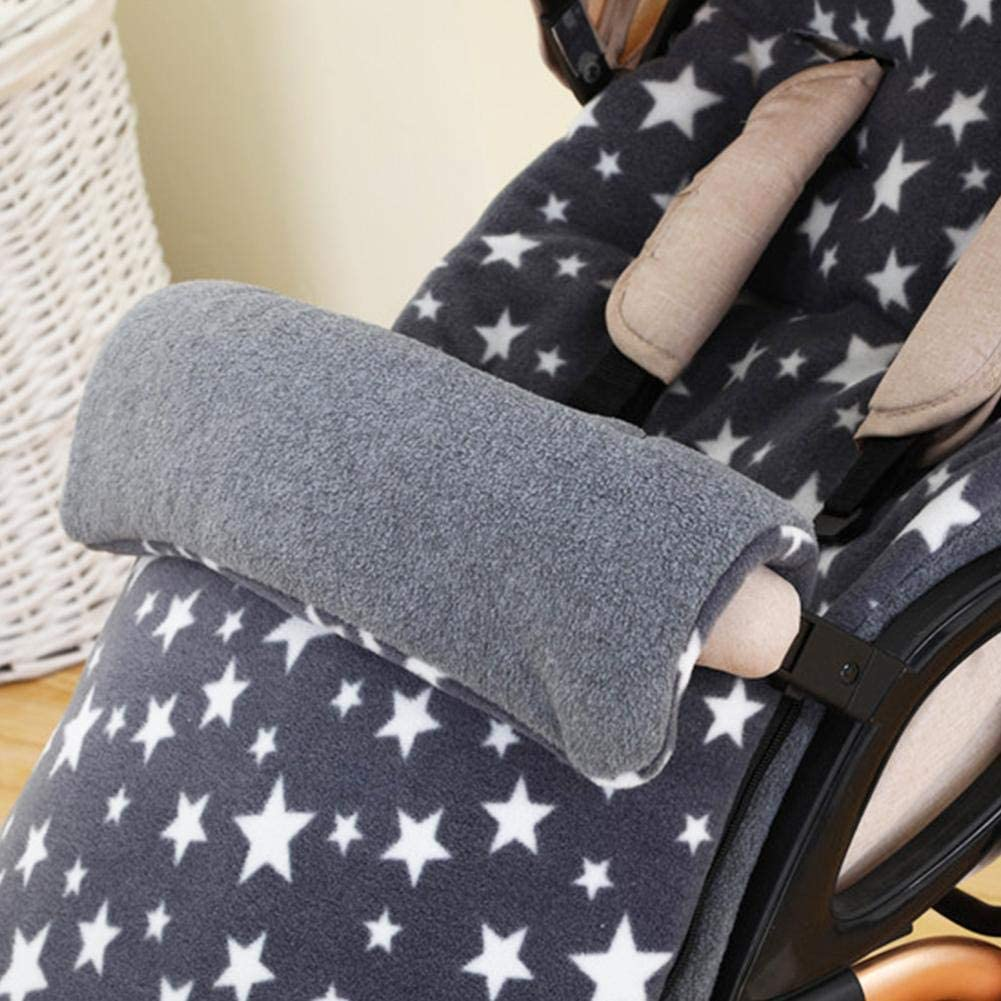 cesta de beb/é Saco de abrigo para cochecito de beb/é superficie impermeable saco de dormir de invierno para cochecito Gris cuna saco de abrigo de invierno para beb/é manta para beb/é
