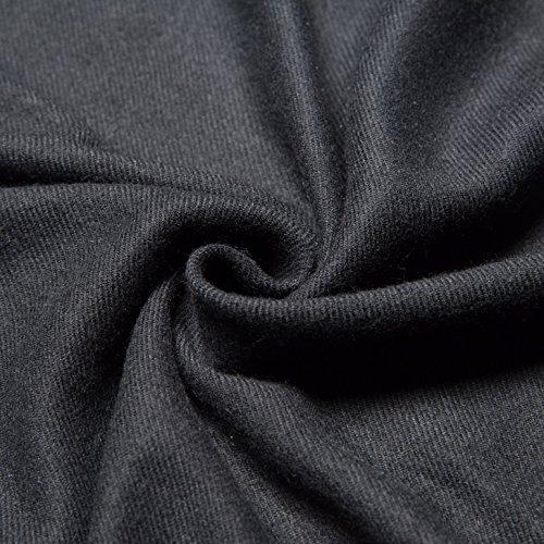 Unisex Pure Color Tassels Warm Cozy Scarves Winter Oversized Blanket Scarf Fall Shawl for Women&Men (Black)