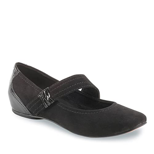 685ef4ad7cd Amazon.com | Antia Women's Bella Mary Jane Shoes, Black Kid Suede ...