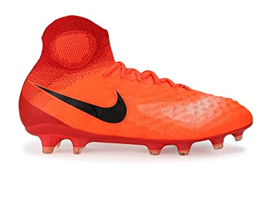f10b0fb83 Nike Kids Magista Obra II FG Total Crimson/Black/University Red Soccer Shoes  -