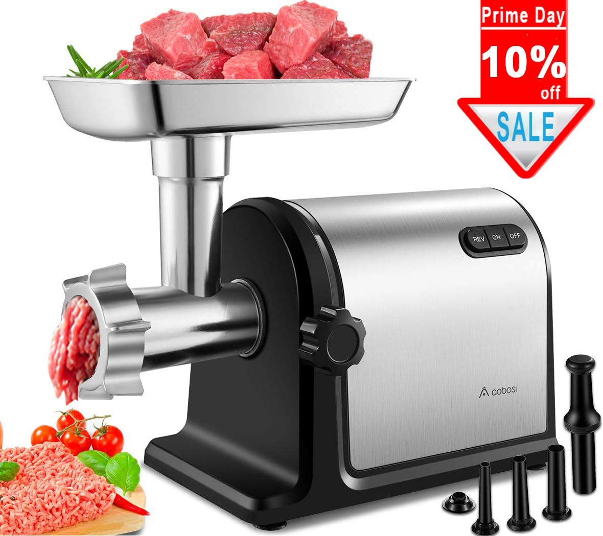 Meat Grinder For Sale >> Amazon Com Aobosi Electric Meat Grinder 2000w Max Heavy Duty