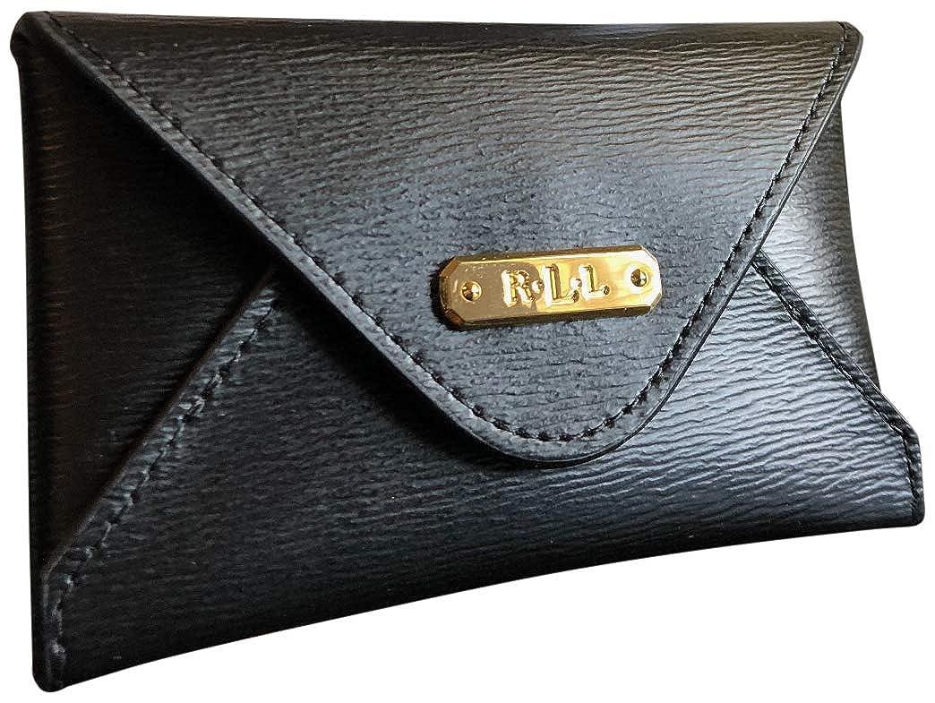 new arrival 2bfa6 ba604 Lauren Ralph Lauren Professional Women's Leather Envelope Card Case Black