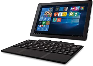 RCA Cambio 10.1 inches 2 in 1 32GB Tablet with Windows 10, Intel Atom Z8350 2GB RAM, Includes Keyboard (Renewed)