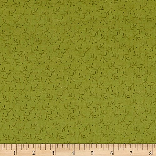 P & B Textiles Bear Essentials 3 Dotted Vines Green Fabric by The Yard -  0564488