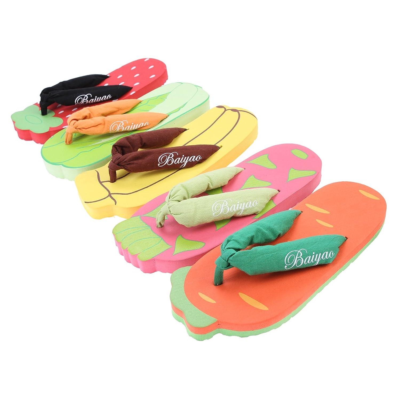 Damara Girls Cute Vegetable Fruit Shaped Flip Flops: Amazon.co.uk: Shoes &  Bags