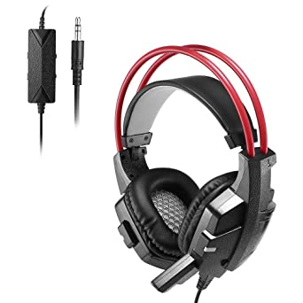 Auriculares Gaming LESHP Cascos Estéreo Headset con Micrófono USB para Xbox 360 PS4 Slim Pro XboxONE