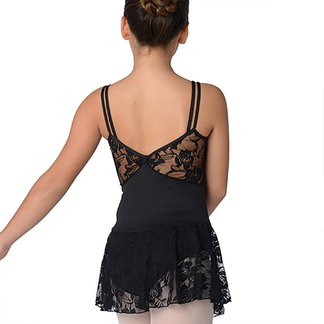 DanzNmotion Big Girls Double Strap Lace Dress