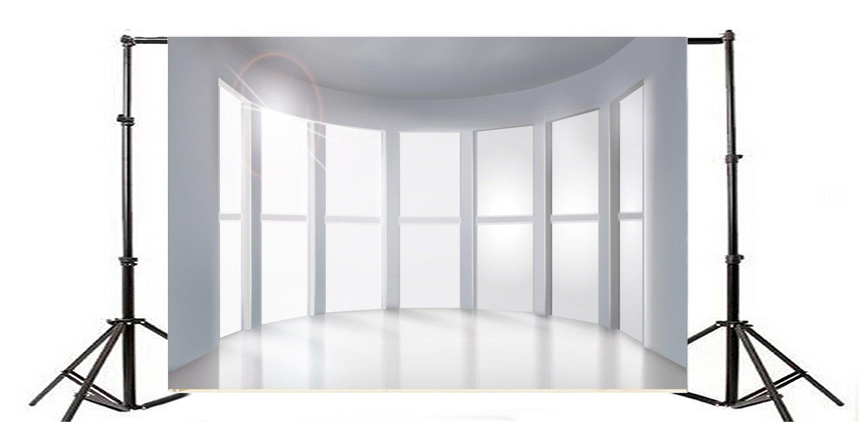 AOFOTO 7x5ft Business Office French Casement Sash Window Photography Background Glass Picture Window City View Backdrop Adult Man Artistic Portrait Photoshoot Studio Props Video Drape Wallpaper