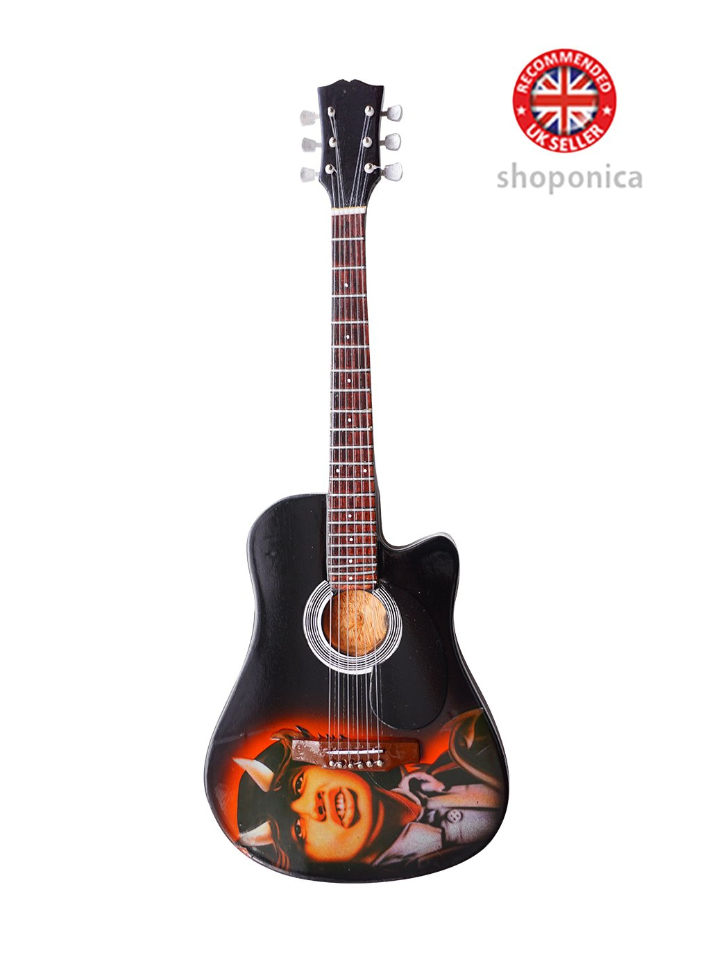 AC/DC Angus Young – Tribute Holz Miniatur-Gitarre Replica Music Legends