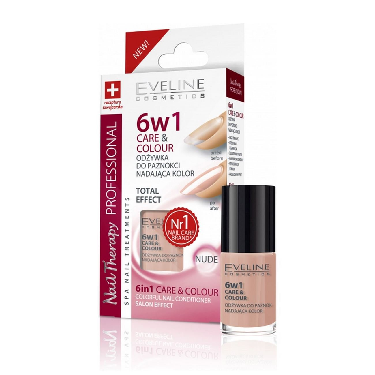 EVELINE - COLORFUL NAIL CONDITIONER CARE & COLOUR NAIL 6 IN 1 - NUDE - 5ml