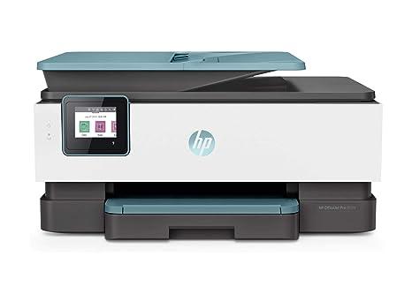 HP OfficeJet Pro 8025 Impresora multifunción, impresión, Copia, escaneado, fax, Blanco/Azul