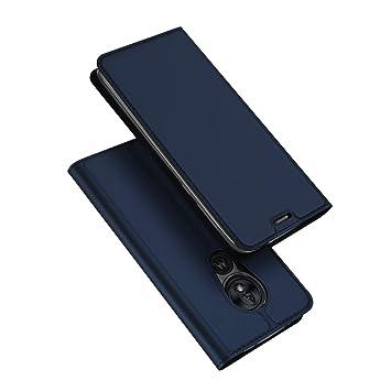 DUX DUCIS Funda Moto G7 Power, PU Cuero Flip Folio Carcasa [Magnético] [Soporte Plegable] [Ranuras para Tarjetas] para Motorola Moto G7 Power (Azul ...