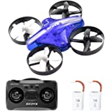 ATOYX AT-66 Mini Drones, Quadcopter Auto Hovering Headless Mode 3D Flips 3 Speeds Helicopter RC Plane Toy with Bonus Batteries Drone for Kids Beginners (Blue)