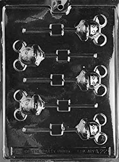 Mickey Mouse Head Lollipop Chocolate Candy Mold  233 NEW