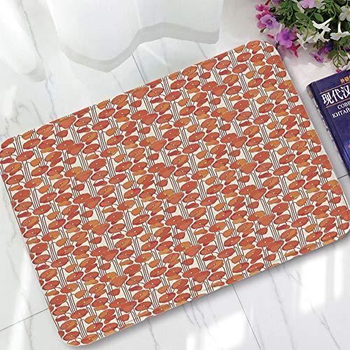 (YOLIYANA Non-Slip Mat,Floral,for Bathroom Kitchen Bedroom,15.75