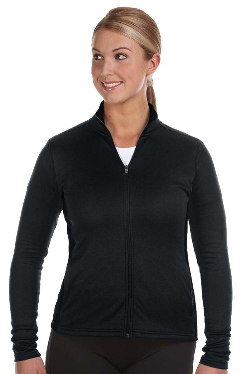 Champion Women'S Performance Colorblock Full-Zip Jacket (Black) (S)