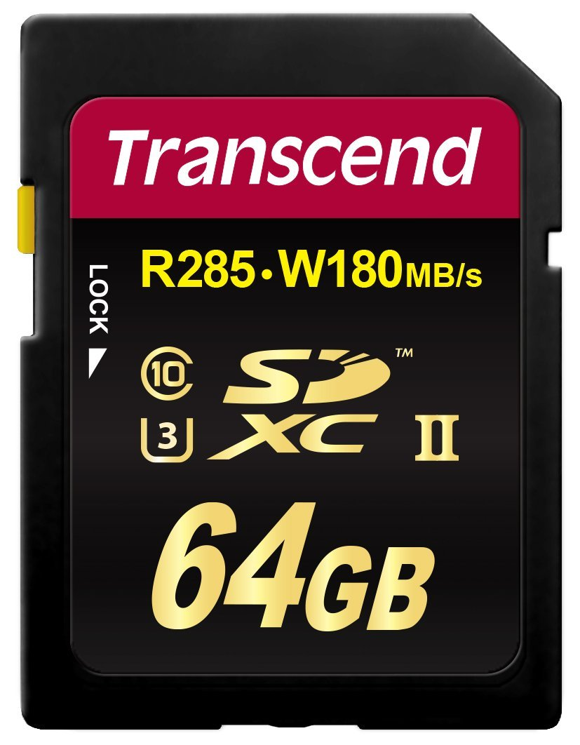 Transcend 64GB Class 10 SDXC UHS-II SD Card (TS64GSD2U3) by Transcend