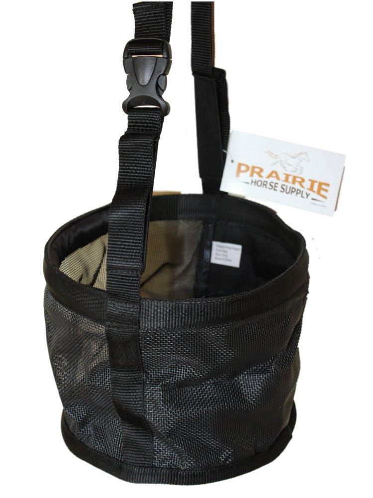 Feed Bag for Horses, Heavy Duty Durable Canvas Grain Feedbag Size: Medium (Horse) by Prairie Horse Supply (Image #2)